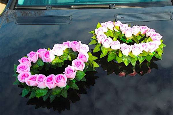 Сердца из розовых роз