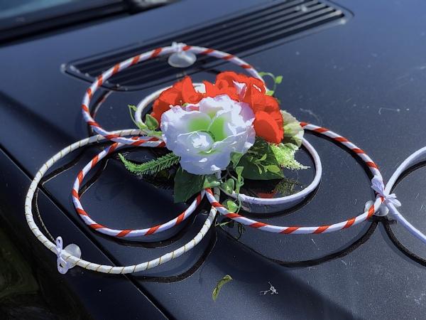Кольца ротанга с цветами №2